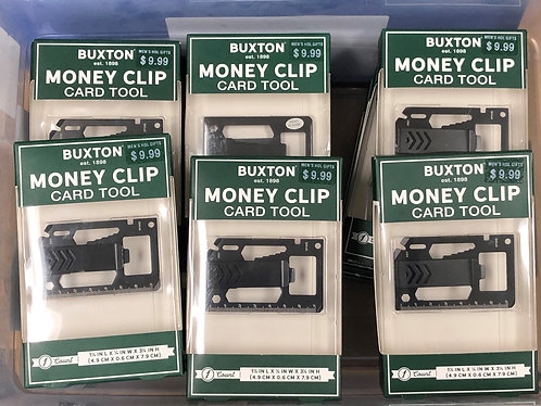 Case Lot: Buxton Money Clip Card Tools - New Overstock