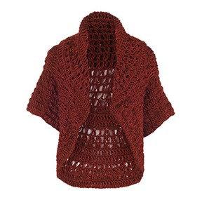 Coco + Carmen Jolie Crochet Shrug - Dark Red