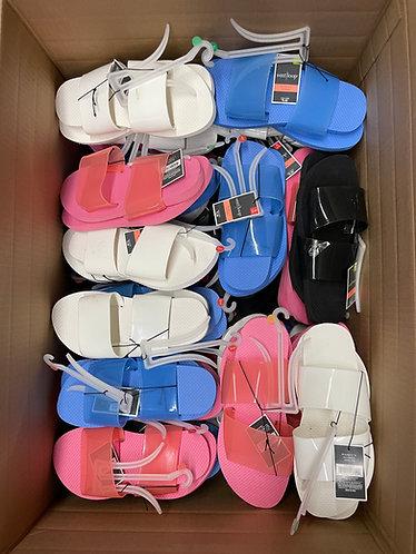 Case Lot of Women's Sandals/Slides - 75 Units - Shelf Pulls