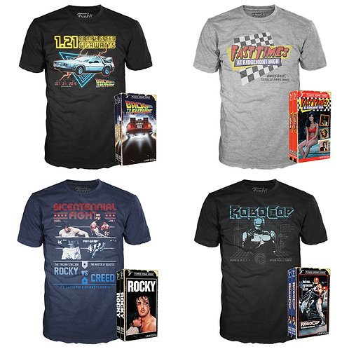 Case Lot: Funko Graphic T-Shirts - Manifested - 61 Units - $609 Orig. Retail