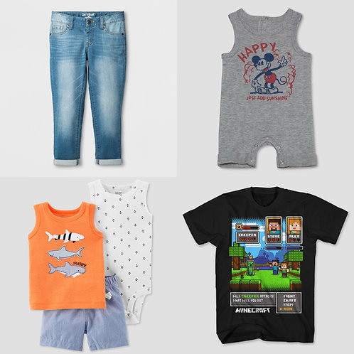 Case Lot: T*RGT Kid's Apparel - Manifested - 163 Units - $1,407 Orig. Retail