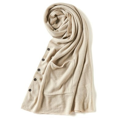 Coco + Carmen Sun Valley Pocket Scarf -Pumice