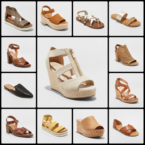 Case Lot of Women's Sandals - 53 Units - $1,509 Orig. Retail - Shelf Pulls