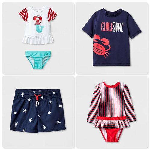 Case Lot of Infant/Toddler/Kids Swimsuits -101 Units - Shelf Pulls