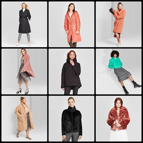 Pallet of Women's Coats & Jackets - 114 Units -Manifested - Shelf Pulls