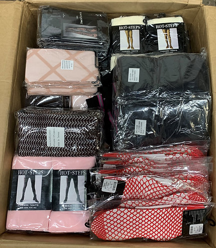 Case Lot of Assorted Socks & Fashion Tights - 250 Units - New Overstock