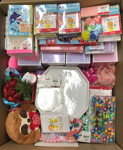Case Lot Of Valentines Merchandise - 111 Units - Shelf Pull Condition