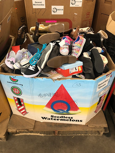 Pallet of Assorted Shoes - Men's, Women's & Kids - 130 Pairs