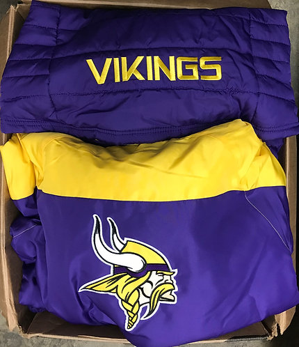 Case Lot of MN Vikings Jackets - 7 Units - Shelf Pull Condition