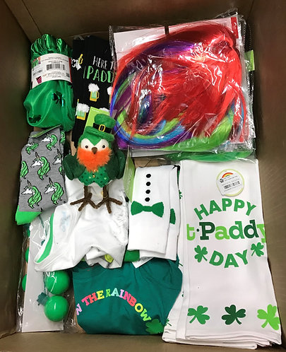 Case Lot Of St. Patrick's Day Merchandise - 106 Units - Shelf Pull Condition