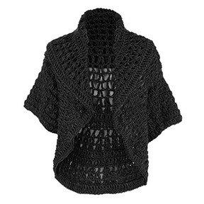 Coco + Carmen Jolie Crochet Shrug - Black