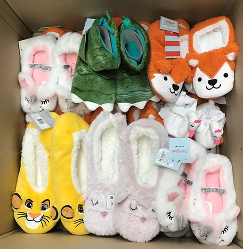 Case Lot of Kid's Slippers - 37 Units - Manifested