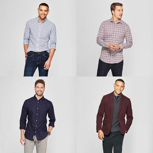 Case Lot: Men's Clothing - Shelf Pulls - Manifested - $1,545 Orig. Retail