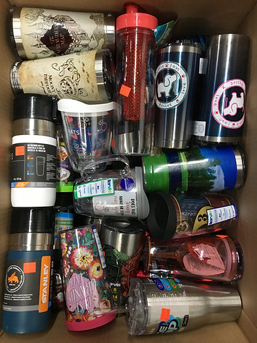 Case Lot of Insulated Drinkware By Tervis & More - 37 Units - Shelf Pulls