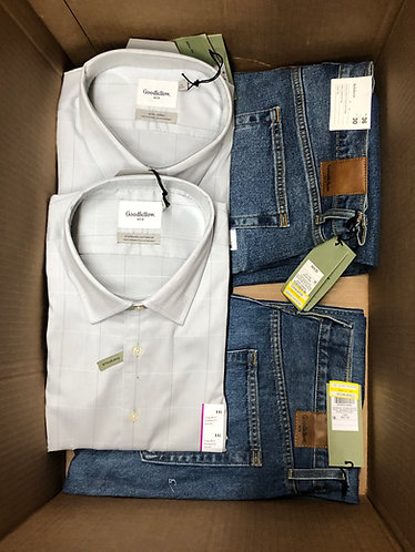 Case Lot of Men's Apparel & Accessories - Manifested - 57 Units