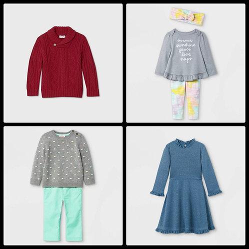 Case Lot of Kids clothing - 32 Units - Manifested - Shelf Pulls