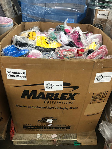 Pallet of Overstock Shoes for Women & Children - 588 Units - New Condition