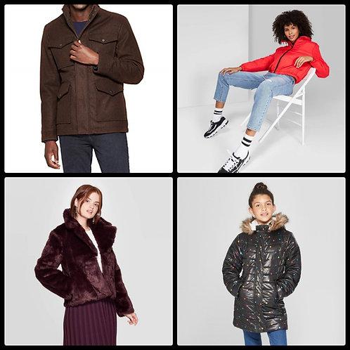 Case Lot of Jackets for Women, Men & Girls - 10 Units - Manifested - Shelf Pulls
