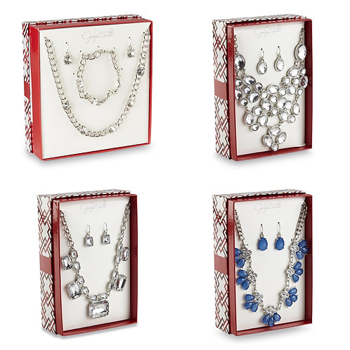 Case Lot of Jaclyn Smith Boxed Jewelry Sets - 100 Units - New Shelf Pulls
