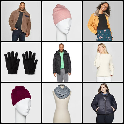 Case Lot of Winter Wear for Men & Women - 40 Units - Shelf Pull Condition