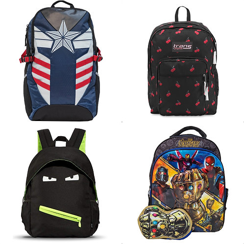 Case Lot: Backpacks & Lunch Bags - Shelf Pulls - Manifested