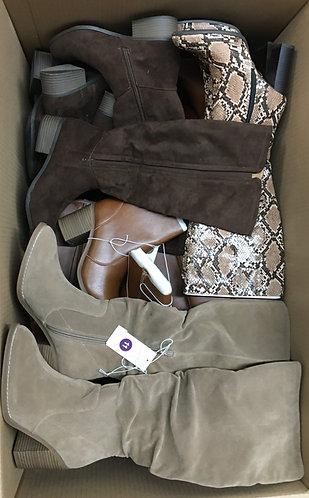 Case Lot of Women's Fashion Boots - 18 Units - Manifested - Shelf Pulls