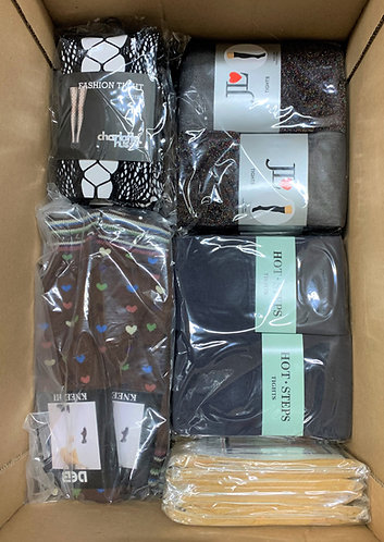 Case Lot of Assorted Socks & Fashion Tights - 100 Units - New Overstock
