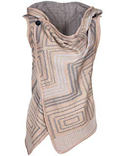 Coco + Carmen Button Shoulder Vest - Taupe/Gray