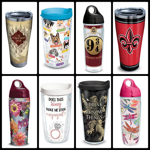 Case Lot of Insulated Drinkware by Tervis & More - 36 Units - Shelf Pulls