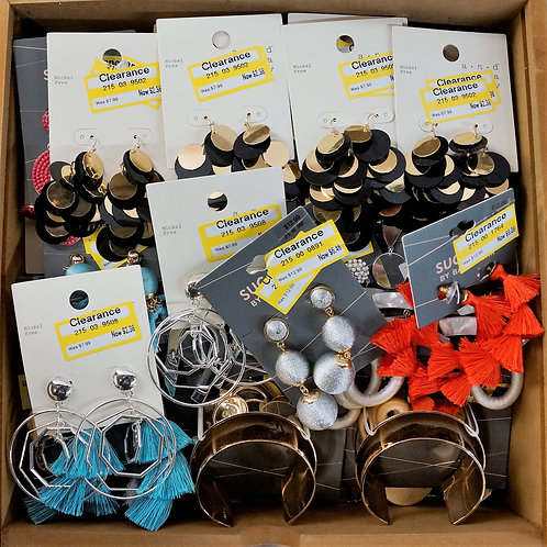 Jewelry Case Lot: Earrings & Bracelets - 86 Units - $957 Original Retail