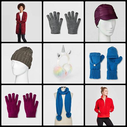 Case Lot of Winter Wear for Women, Men & Kids - 58 Units - $821 Orig. Retail