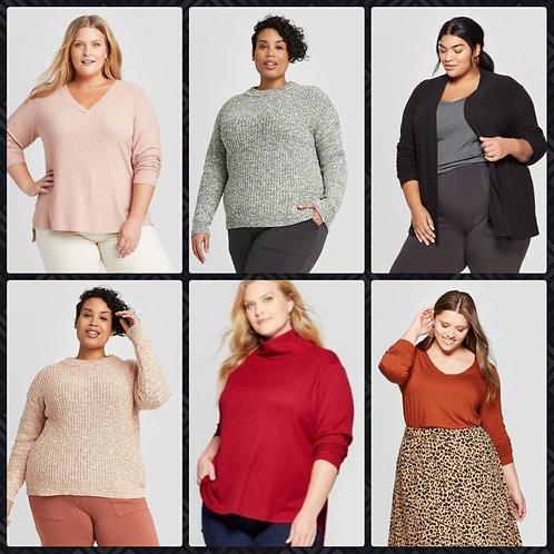 Case Lot of Plus Sized Women's Fall & Winter Apparel - 24 Units - Shelf Pulls