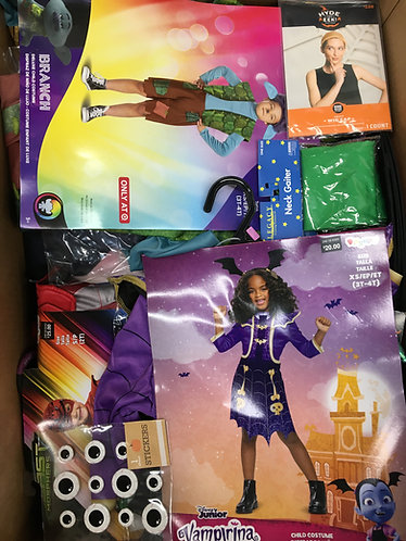 Case Lot of Halloween Costumes & More! - 76 Units -Manifested -Shelf Pulls