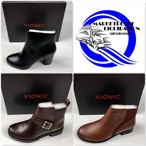 VIONIC Women's Fashion Boots - New Overstock Condition - 110 Pairs