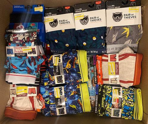 Case Lot of Men's Socks & Boxers - Shelf Pulls - Manifested