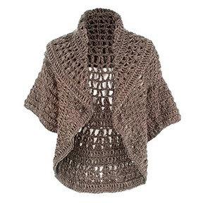 Coco + Carmen Jolie Crochet Shrug - Taupe