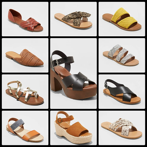 Case Lot of Women's Sandals - 67 Units - $1,525.33 Orig. Retail - Shelf Pulls