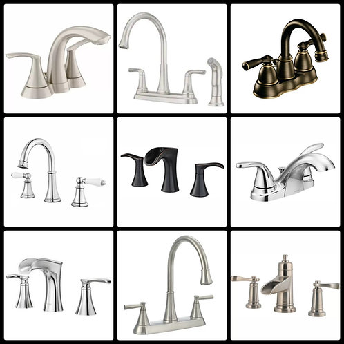 Case Lot of Faucets by Pfister & Moen - 11 Units - Manifested
