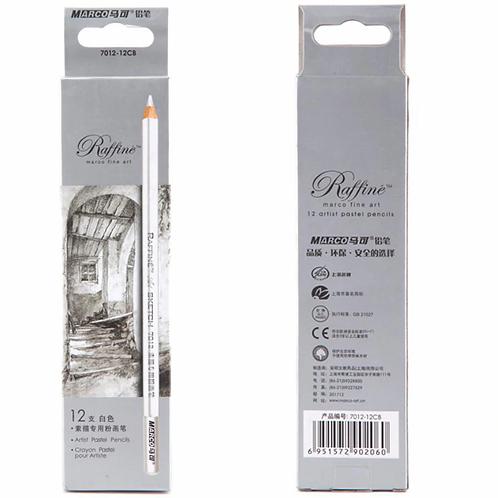 Marco Raffine Sketch 1 Pc Pastel Pencil - White