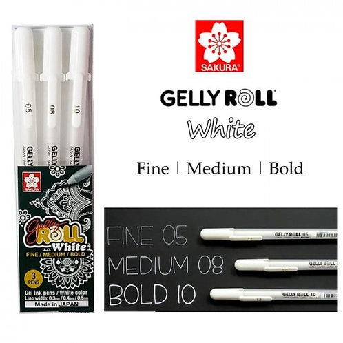 IP-Sakura Gelly Roll Ink Pen White Pen Set