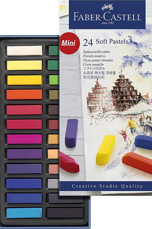 Faber-Castell Soft Pastel 24-Pieces MINI Length