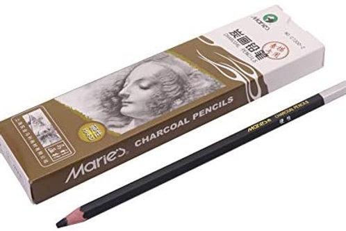 Maries Non-Toxic Charcoal Pencil Black Sketch (Neutral)