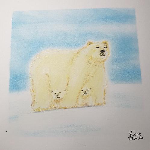 Polar Bear and Cubs by Teacher Sue Lynn