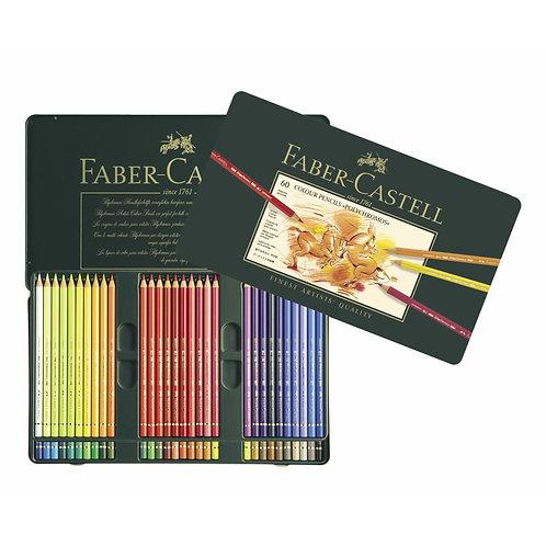 Faber-Castell Polychromos Artist's Colour Pencil, Tin of 60
