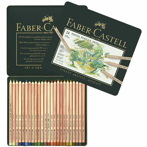 Faber-Castell Pitt Pastel pencil, tin of 24 (Instructor's Price)