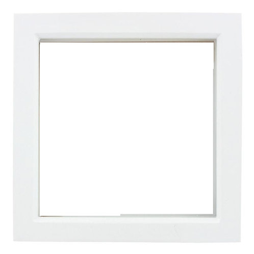 White Deep Box Frame 15Cm X 15Cm, white