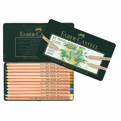 IP-Faber-Castell Pitt Pastel pencil, tin of 12