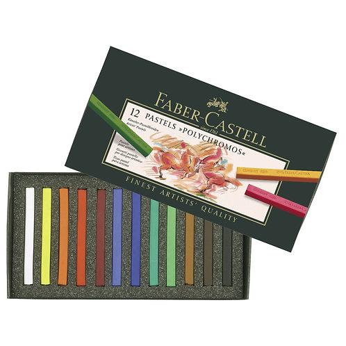 Faber-Castell Polychromos Artist's Pastels set 12, cardboard
