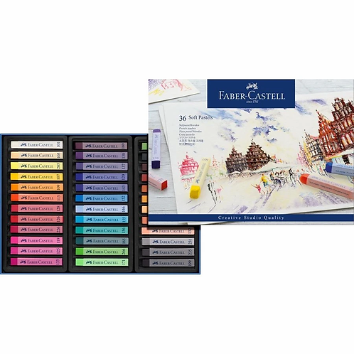 Faber-Castell Soft Pastel 36-Pieces Full Length