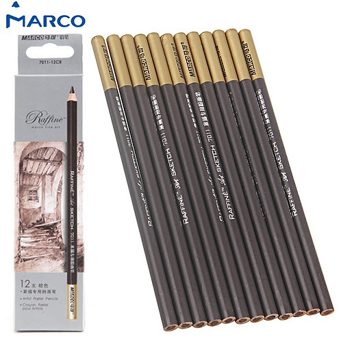 Marco Raffine Sketch 1 Pc Pastel Pencil - Brown